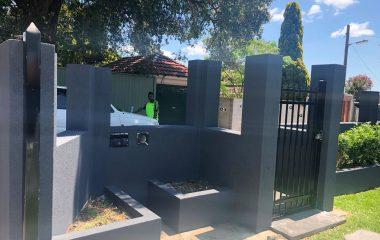 house cement rendering Sydney
